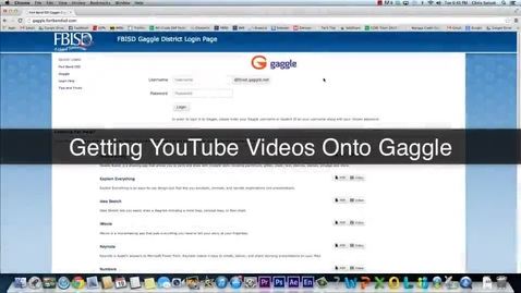 Thumbnail for entry Finding YouTube Videos on Gaggle and Embedding Them Onto Your Website