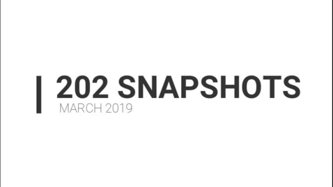 Thumbnail for entry March 2019 Snapshots around District 202, 04.2019
