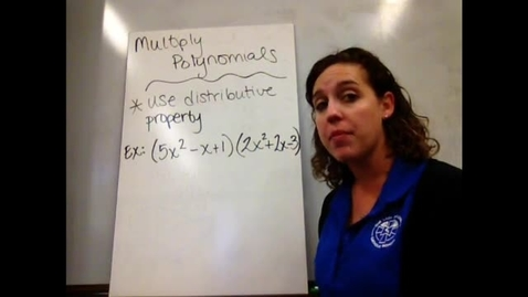 Thumbnail for entry Alg I - Sect 7-6 Multiply Polynomials