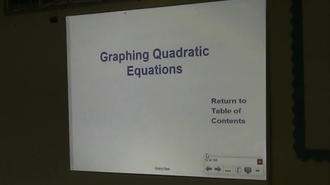 Thumbnail for entry Alg Lesson 10-2 Graphing Quadratic Equations