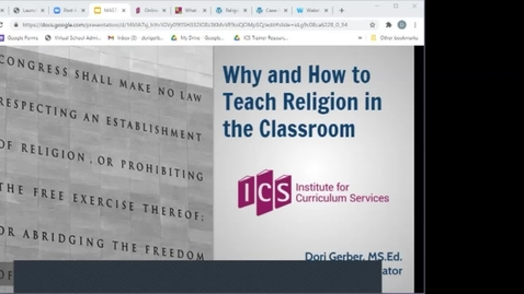 Thumbnail for entry FCSS Spring Virtual Conference Session: Why and How to Teach Religion in the Classroom