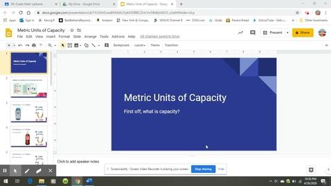 Thumbnail for entry Metric Units of Capacity.webm