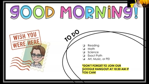 Thumbnail for entry Morning message 4.29