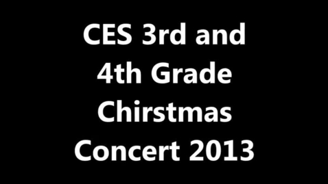Thumbnail for entry Clay 3rd and 4th Grade Christmas Concert 2013