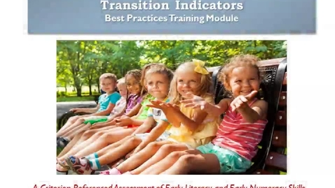 Thumbnail for entry Kindergarten Indicators