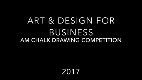 Thumbnail for entry 2016-17 Art and Design AM Student Sidewalk Chalk Drawing Competition