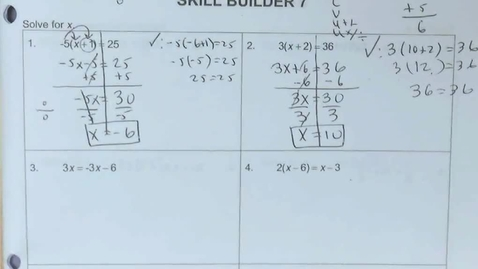 Thumbnail for entry SP6 - Lesson 6.3d Solving Multi-Step Equations w Rational Numbers Using DCVUU on p. 27 and pp. 14-15