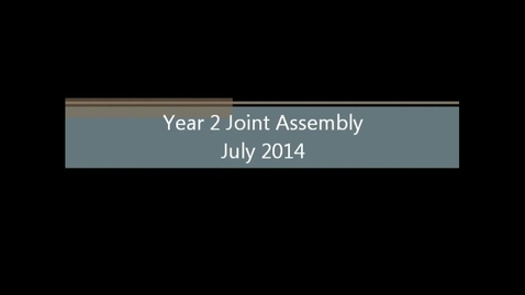 Thumbnail for entry Year 2 Assembly