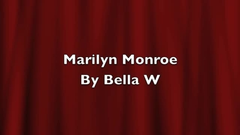 Thumbnail for entry Bellas Marilyn Monroe project