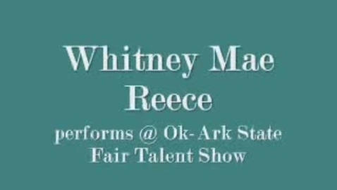 Thumbnail for entry Whitney Reece Performs at Ft. Smith Fair
