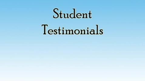 Thumbnail for entry Student Testimonials- Destinee Wright