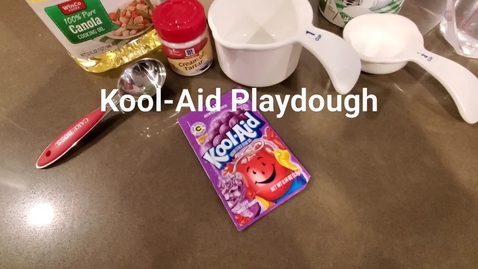 Thumbnail for entry Kool-Aid Playdough
