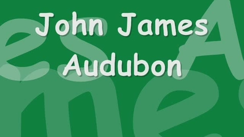 Thumbnail for entry John Audubon