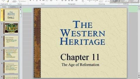 Thumbnail for entry Reformation Lecture 1