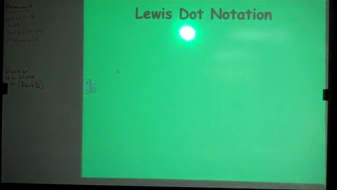 Thumbnail for entry Unit 8 Lewis Dot Notation
