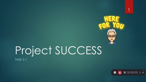 Thumbnail for entry Project Success Lesson 2.1