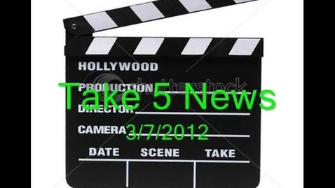Thumbnail for entry Take 5 News 3.7.2012