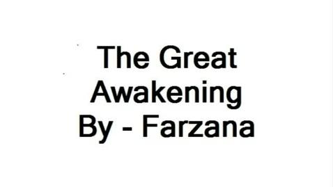 Thumbnail for entry Great Awakenings farzana 7RS