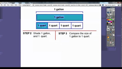 Thumbnail for entry Customary Units of Liquid Volume - Lesson 12.4