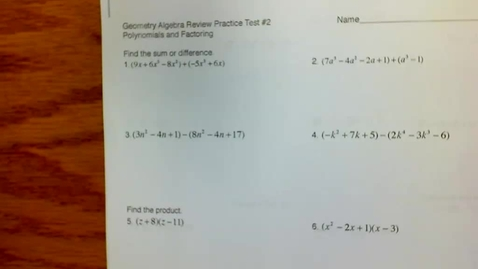Thumbnail for entry Geom Algebra Review Prac Test #2