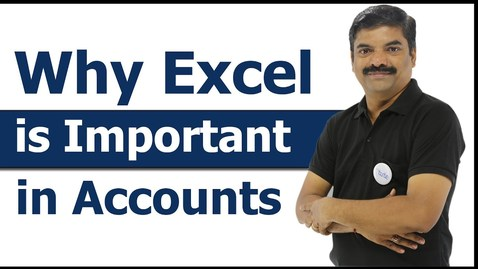 Thumbnail for entry Why Excel is Important in Accounts? | Importance of Excel | Arithmetic & Comparison operators, Text function | Letstute Accountancy