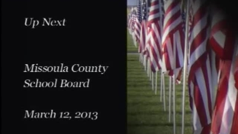 Thumbnail for entry MCPS Board of Trustees School Board Meeting, March 12, 2013