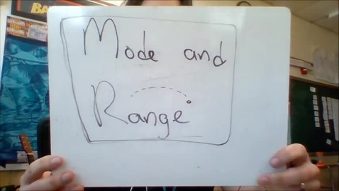 Thumbnail for entry Unit 4 - mode and range