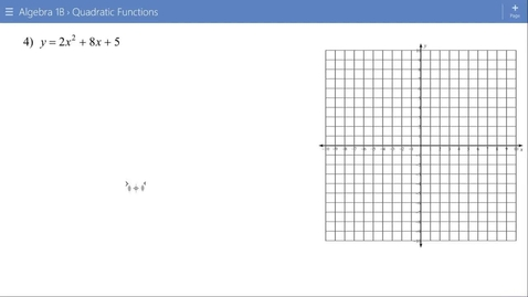 Thumbnail for entry Algebra 1B Lesson 15 #4