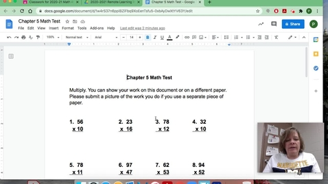 Thumbnail for entry Chapter 5 Math Test_