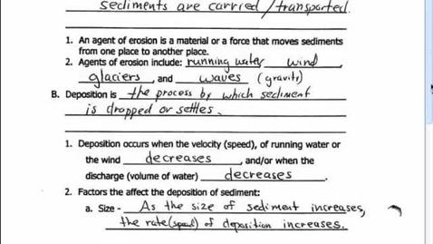 Thumbnail for entry 5.3 DN Erosion & Deposition