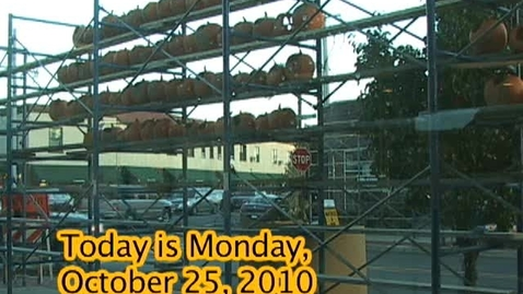 Thumbnail for entry Monday, October 25, 2010