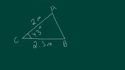 Thumbnail for entry Marcum trigonometry view for physics law of cosines 1