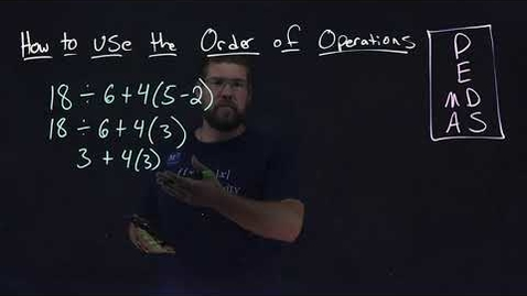 Thumbnail for entry How to Use the Order of Operations | Two Simple Examples | Minute Math