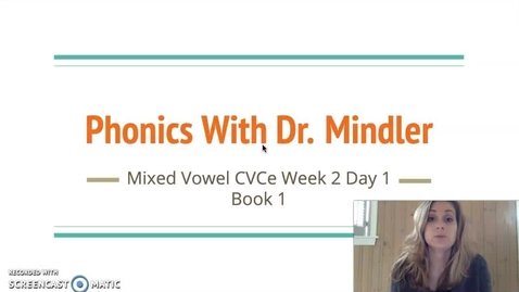Thumbnail for entry Part1MixedVowelVCeWeek2