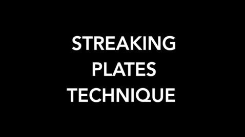 Thumbnail for entry Streaking Plates Technique