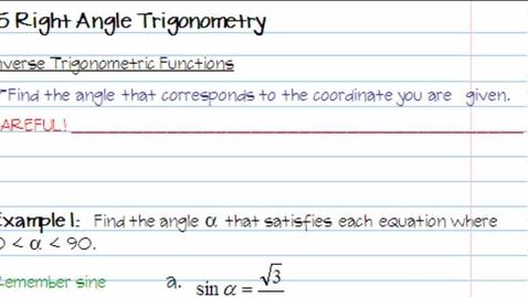 Thumbnail for entry 1.5 Trigonometry