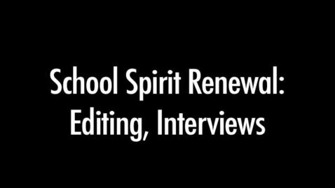 Thumbnail for entry Tori Bowden- School Spirit Renewal