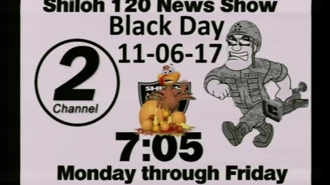 Thumbnail for entry 11-06-17 Shiloh High School News 1