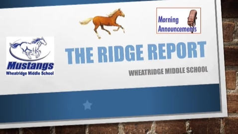 Thumbnail for entry Ridge Report 11-17-16
