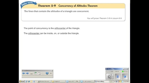 Thumbnail for entry Concurrency of Altitudes Theorems