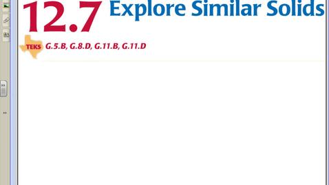 Thumbnail for entry 12.7 Explore Similar Solids