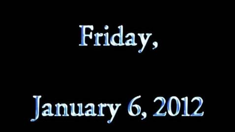 Thumbnail for entry Friday, January 6, 2012