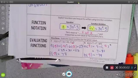Thumbnail for entry 9-24 Pre-Calc  Evaluating Functions