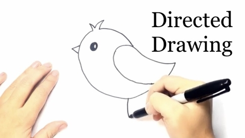 Thumbnail for entry Color Monster Directed Drawing