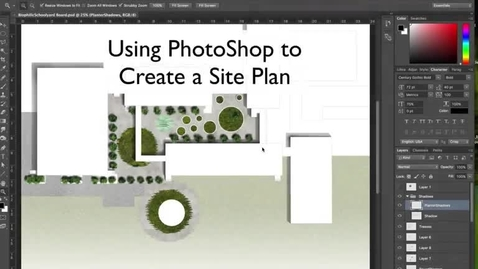 Thumbnail for entry Creating a Site Plan using SketchUp and PhotoShop
