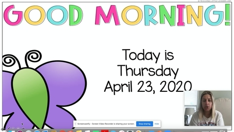 Thumbnail for entry April 23 Morning Meeting