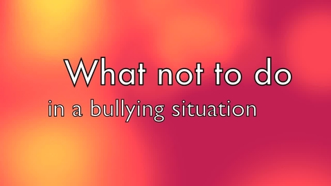 Thumbnail for entry Bullying situation