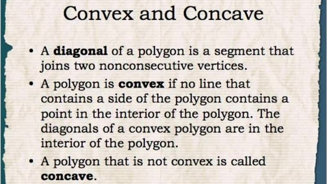 Thumbnail for entry Math 1: Concave Convex and Regular Polygons 1