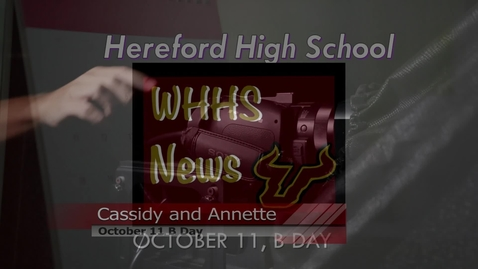 Thumbnail for entry Morning Announcements October 11