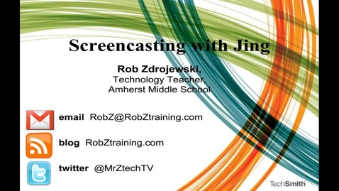 Thumbnail for entry Workshop: Creating Screencasts with Jing by Rob Zdrojewski